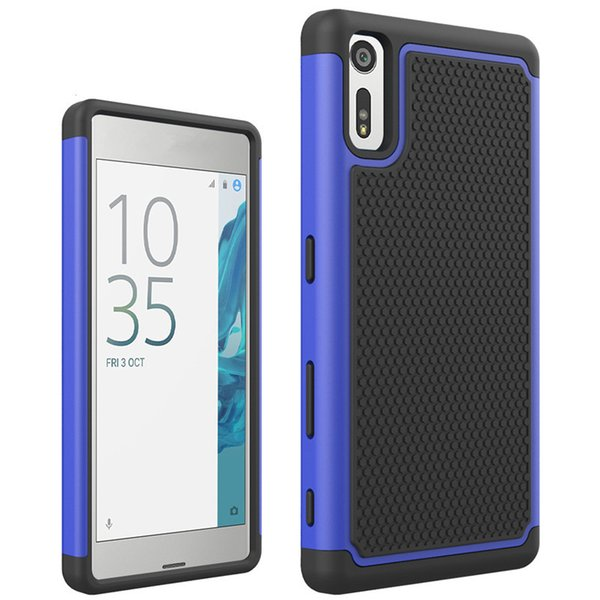 5.2 inch Heavy Duty 2in1 Cover Case For Sony Xperia XZ Phone Case Dual Layer Armor Shockproof Hybrid Silicone Rubber Hard Case