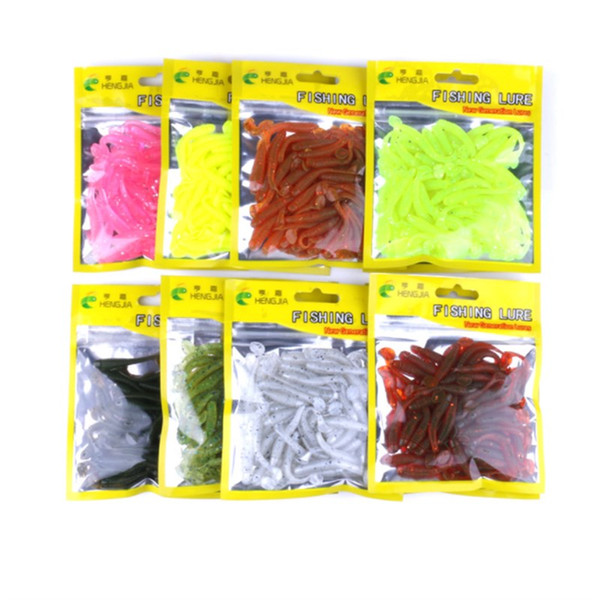 50PCS New Design Spiral T Tail fish Soft Bait 5cm 39g Artificial Lifelike Fishing Gear and Spinning Shad Lure for Saltwater