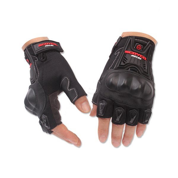 Wholesale- Half Finger Motorcycle Gloves for Scoyco MC29 Cycling Racing Riding Protective Gloves Motorbike Motorcross guantes Glove