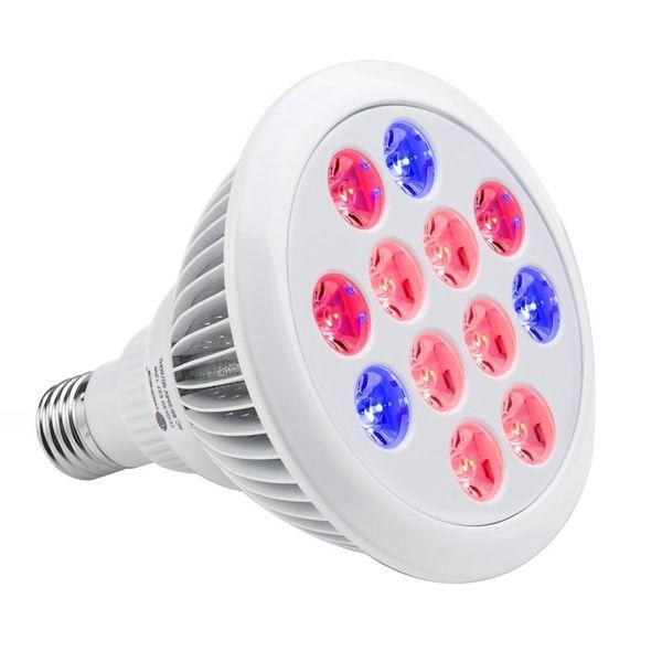Lampadina a LED per coltivazione Coltivazione di piante per Hydropoics Serra E26 organica 12w 24w 12 LED