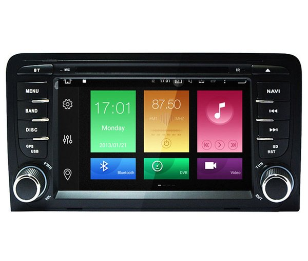 Touch Screen Octa-Core Sistema operativo Android 8.0 / 9.0 DVD per Audi A3 2003-2011 GPS Navi Radio RDS WIFI 4G 4K Video 4G RAM 32 / 64G ROM Multimedia