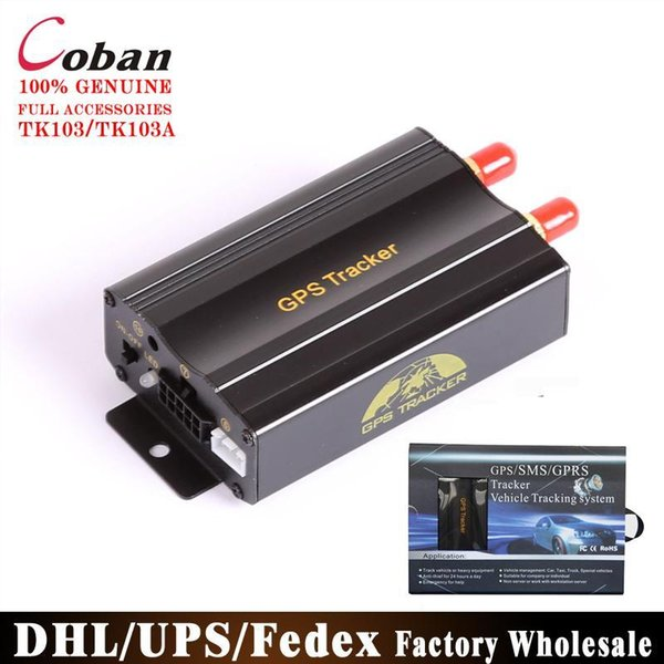 DHL/FEDEX 50PCS Coban Car GPS Tracker GSM GPRS Vehicle Tracker Device TK103 Quad Tracking System Free Web Platform Service