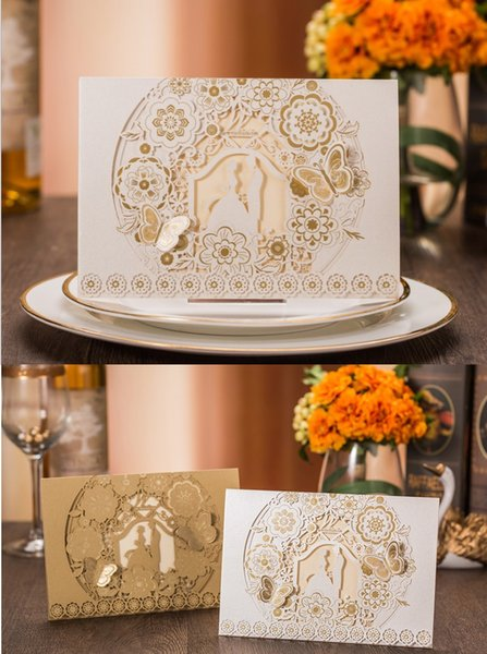 Hot selling European New designs Wedding supplier wedding invitation personalization wed card creative wedding invites DHL free