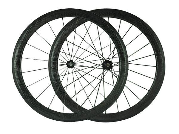 Envío gratis Dimple superficie carbono ruedas 25 mm de ancho 50 mm carbono clincher ruedas de bicicleta de carretera Bicicleta de carretera Ruedas juego