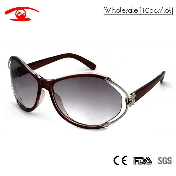 Wholesale(10pcs/lot)Fashion Butterfly Sunglasses Women Lady Promotion Cheap Sun Glasses for Woman Gradient Lens oculos Female