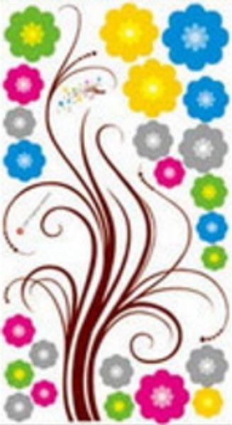New Design Blumen-Wand-Aufkleber-Schlafzimmer-Dekor-Kunst-Abziehbild Abnehmbarer Tapeten-Wandaufkleber für Kinderzimmer Mädchen Wohnzimmer