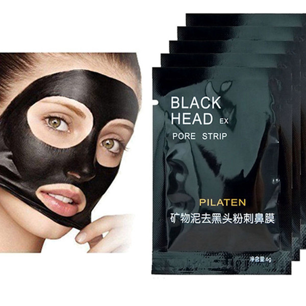 top popular PILATEN Facial Minerals Conk Nose Blackhead Remover Mask Facial Mask Nose Blackhead Cleaner 6g pcs Free Shipping 2021