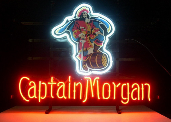 Fashion New Handcraft CAPTAIN MORGAN Real Glass Beer Bar Display neon sign 19x15!!!Best Offer!