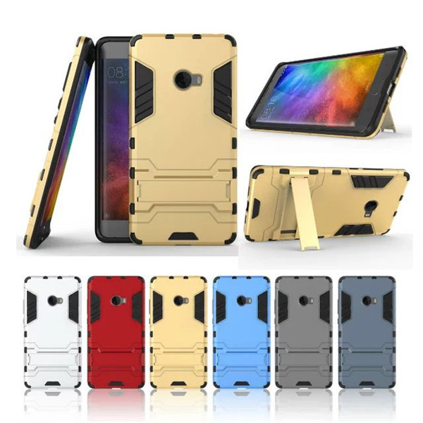 Armor Full Body Case for Xiaomi Note2 Mix Hybrid Dual Layer Hard PC Cover + TPU Shock Absorption Frame Protective Cover with Kickstand