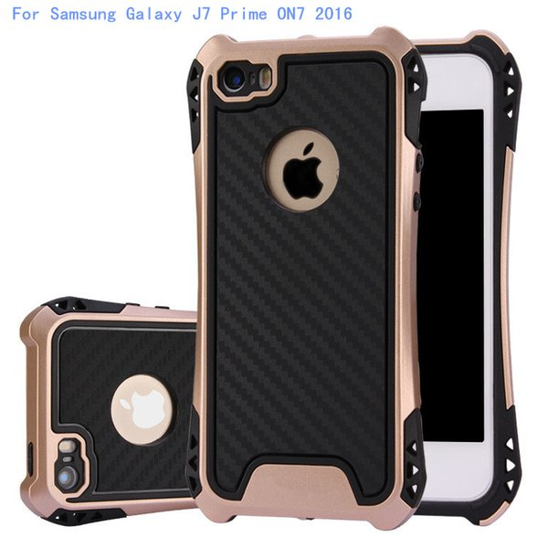 Caseology Case Hybrid Armor Cover For Samsung Galaxy J7 Prime ON7 2016 S6 edge plus Rubber Shockproof Combo Carbon Fiber Case Back Cover