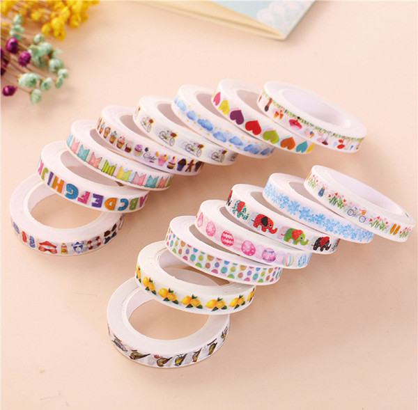 various colors washi tape colorful printing decorative washi tape sticky paper tapes for school kids 2016-M-786