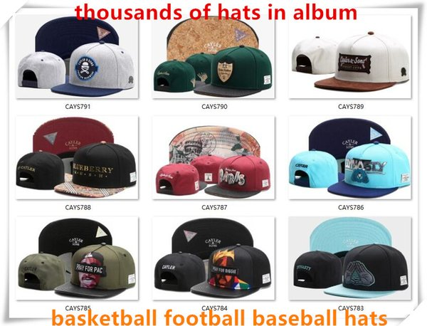 best selling New Snapback Hats Cap Cayler Sons Snap back Baseball football basketball custom Caps adjustable size drop Shipping choose from album CY50