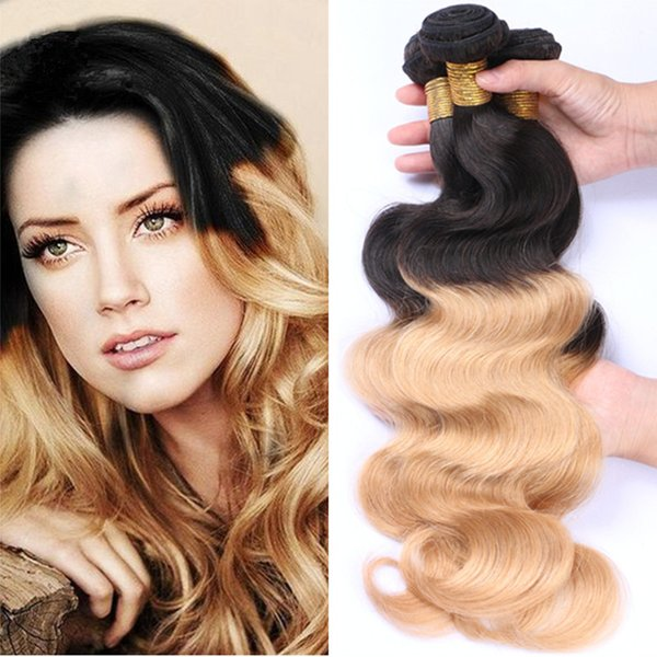 8a Peruvian Ombre Virgin Hair Bundles 1b 27 Honey Blonde Ombre Body Wave Human Hair Weaves Two Tone Ombre Hair Hair Weaves Styles Weave Hair Styles