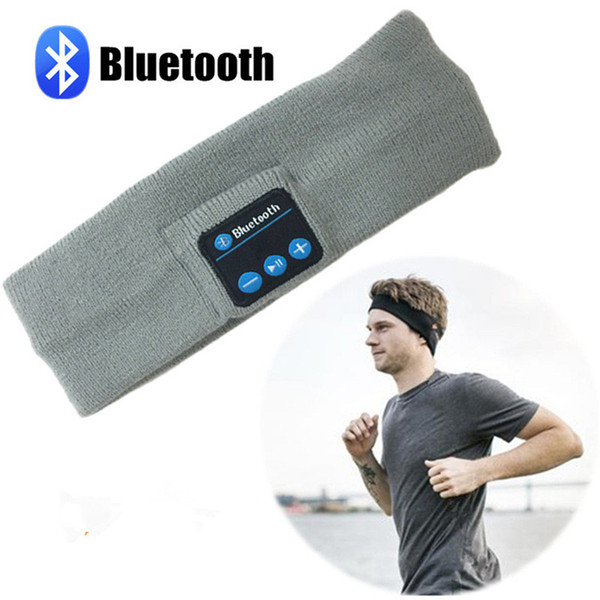 Wireless Bluetooth Music Headband Sport Hat Smart Cap Headphone Earphone with Mic Speaker Hands-free for Smart Phone