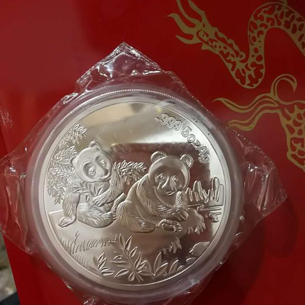 99.99% Chinese Shanghai Mint 5oz zodiac Silver Coin panda ---@