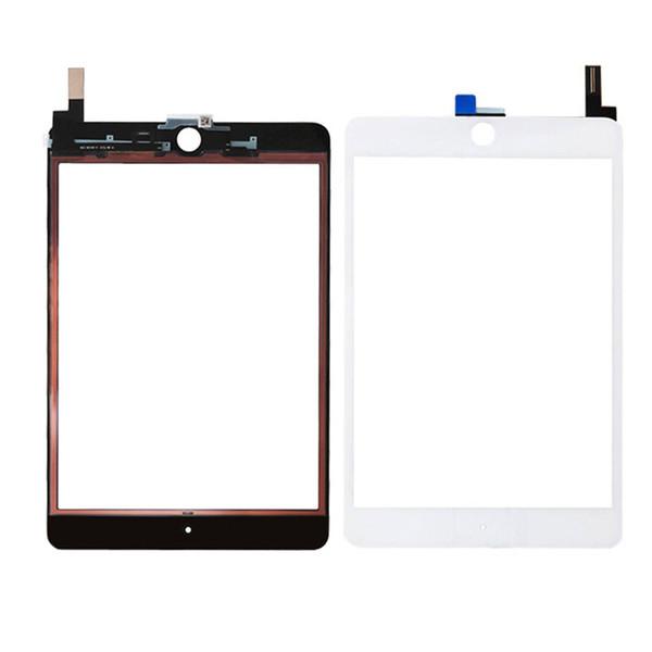 Pannello di vetro 30PCS 100% dello schermo di tocco con digitalizzatore sostituzione per iPad Mini 4 in bianco e nero libero del DHL