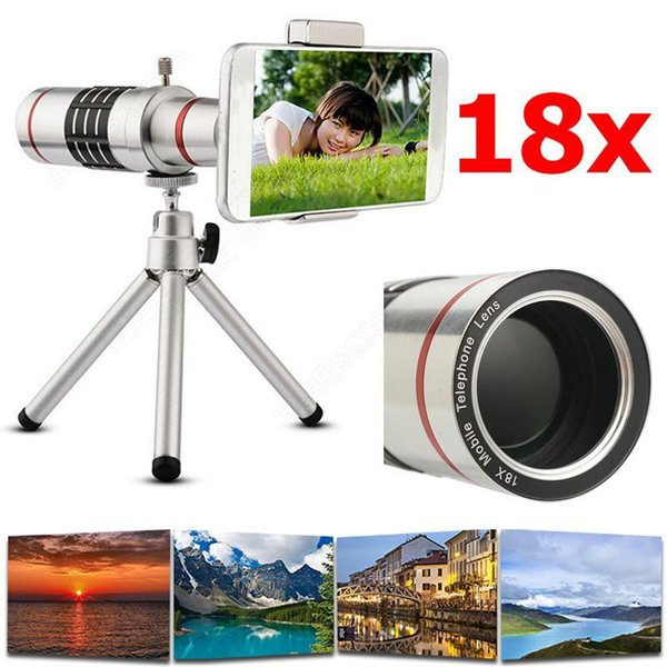 High Quality 18x Zoom Optical Telescope Telephoto Lens Kit Phone Camera Lenses With Tripod For iPhone 6s 7 8 Plus 5s SE 4S