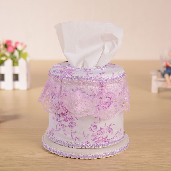 Wholesale- Hot European Style Elegant Tissue Boxes Wedding Royal For Paper Car Covers Towels Tissue Box Cover Household Lace Napkin Holder