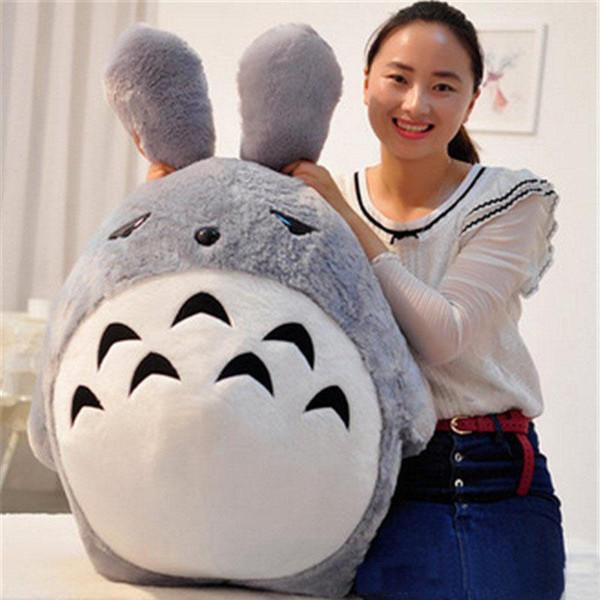 Giant Japan Anime Peluche Totoro Toy Morbido farcito Pop Cartoon Cat Doll Cuscino Regali di Natale di compleanno per i bambini