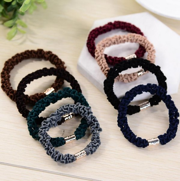 Good A++ Simple hair circle new girls hair tie hair wave rubber band FQ011 mix order 100 pieces a lot