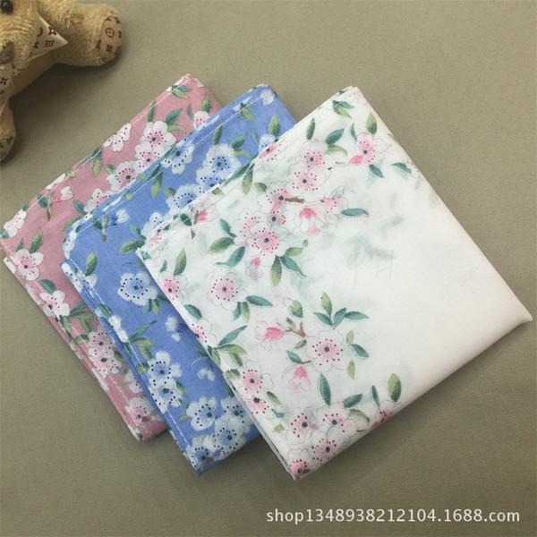 [cotton] ladies Suihua handkerchief Handkerchief Scarf literary small fresh 43*43 printed handkerchief wholesale