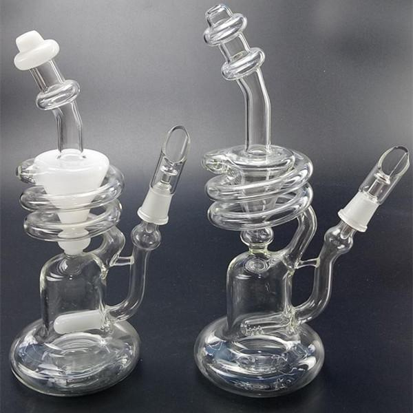 Glass Bongs arms inline recycler heady dab oil rigs Gear Perc Water Pipes Bowl bong ash catcher oil rig with 14.5mm joint