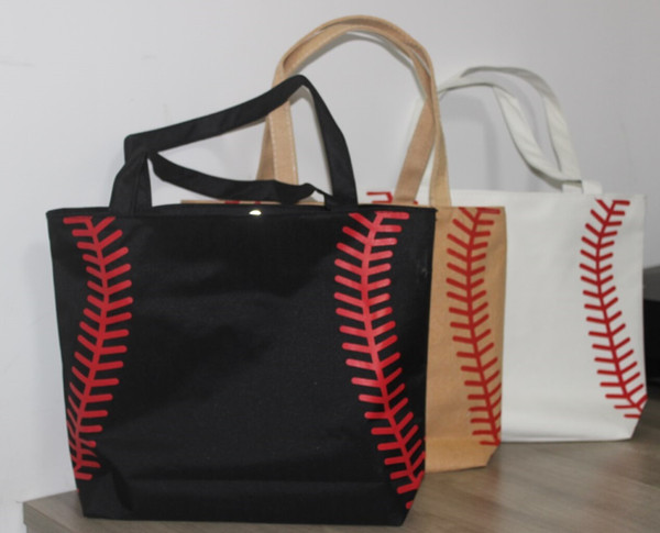 best selling new arrival softball baseball bag Tote Bags Sports Bags Casual Tote Softball Football Soccer Basketball Bags Cotton Canvas Material