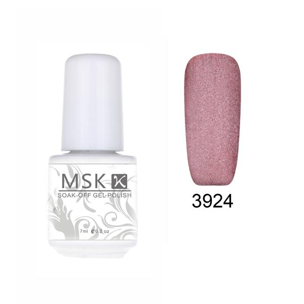 Wholesale-MSK Gel polish 48 color matte Velvet soak off uv led gel nail polish nail art 5ml 3924