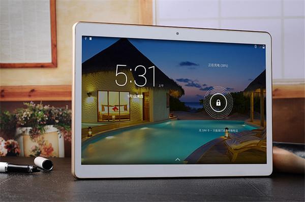 Android 4.4 10 polegadas Octa Núcleo Tablets PC 3G Telefone Chamando 4GB 16GB Dual Câmera IPS GPS Wifi Tablets