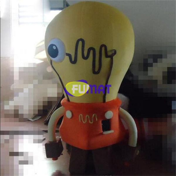 FUMAT Yellow Bulbs Nuovo arrivo Costume mascotte Lighting Shop Promozione Costume Cartoon Attività Fancy Dress Picture Sample Personalizzazione