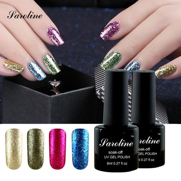 Wholesale Saroline Nail Foil Glue Shining Glitter Platinum Uv Led ...