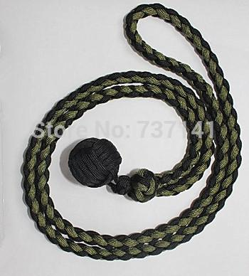 """Free Shipping Paracord Expandable Monkey Fist 1"""" Steel Core Expands 18"""" to 30"""" keychain lanyard- any color options"""