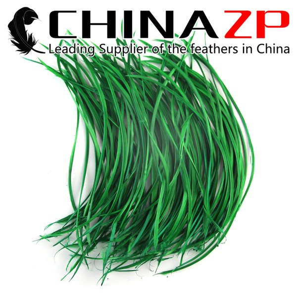 Leading Supplier CHINAZP Crafts Factory 15~20cm(6~8inch) Length Good Quality Dyed Kelly Green Loose Goose Biots Feathers