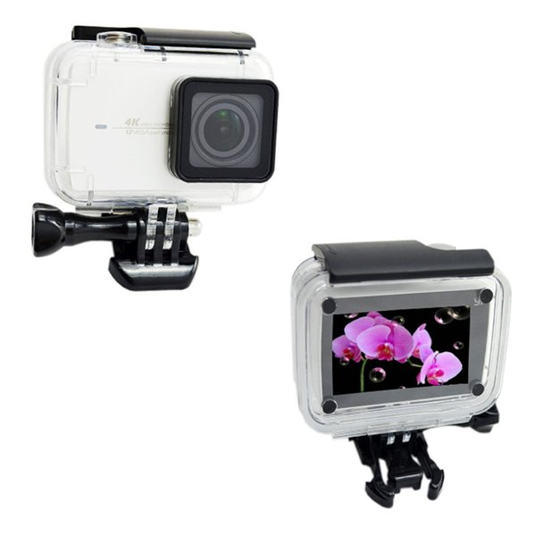 Wholesale- 2017 New Suptig Accessories Diving Shell Waterproof Housing Protective Case Mount For Xiaomi Yi 4k Camera