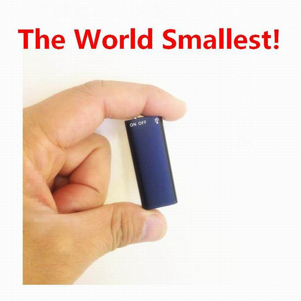 VOS Voice Activated Long Time Recording 8GB Digital Audio Voice Recorder USB Flash Drive 16GB MP3 Player The World Smallest!