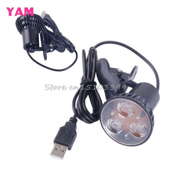Оптово-Супер Яркий 3 светодиодный порт клип на месте USB Light Лампа для ноутбука ПК Черный # G205M # Лучшее качество