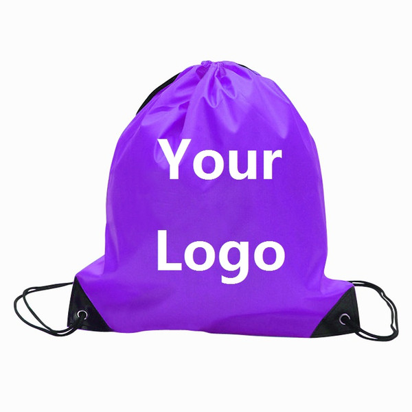 Customize Drawstring Tote bags Logo print Advertising Backpack folding bags Marketing Promotion Gift shopping bags Screenprinting