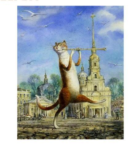 Walking Cat Animals DIY Painting By Numbers Hand Painted Oil Painting Wall Art Picture For Gift Home Decoration 40X50CM