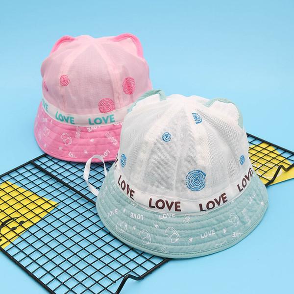 Baby New Infant Visor Sun Baseball Hats Caps Baby Girl Boys Toddler Summer Mesh Bucket Hat Child butterfly Sunbonnet Adjustable Baseball Hat