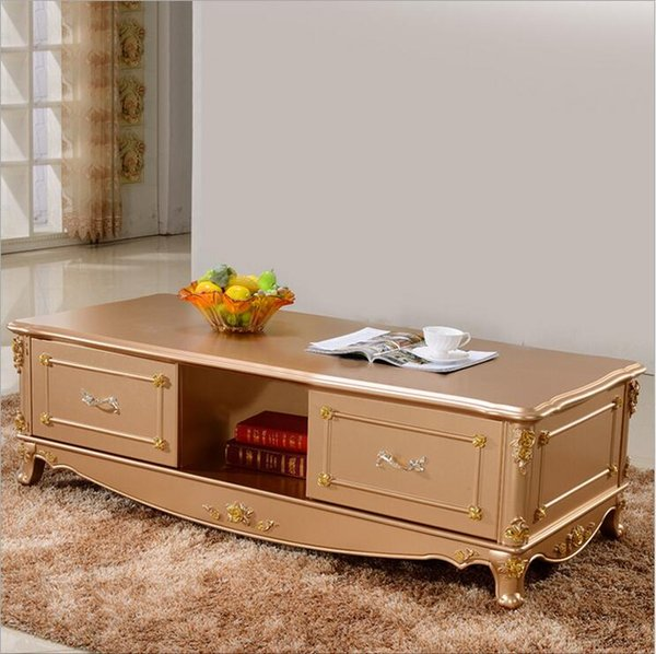 new arrival hot selling fashion European style French Italian hand carved natural wood coffee table p10087