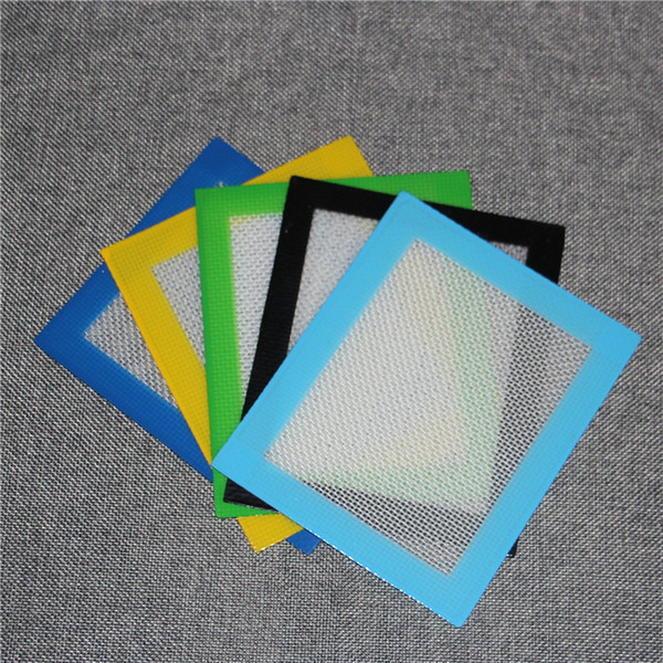 100pcs Silicone Wax Mats Square sheets pads mat barrel drum 26ml silicon oil container dabber tool for dry herb jars dab DHL free