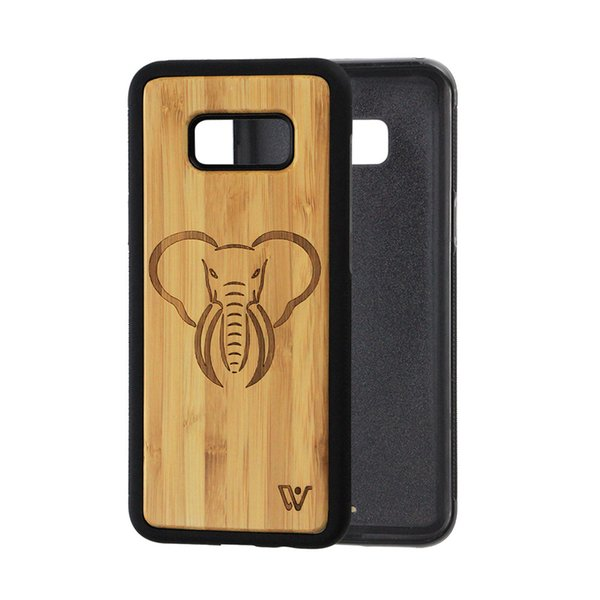 Bamboo Cherry Wooden Pattern Wood Protective Back Cover Cell Phone Case for iPhone 7 Engraving Phone Cases for iPhone 8