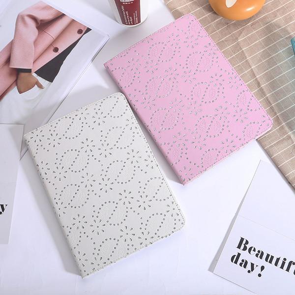 Estuches de almohadillas de estilo brillante para libros de cuero con diamantes para iPad Mini 2 3 4 Estilos ultradelgados de 4 colores Estuche para sobres 9.7 pulgadas Estuche protector para iPad Pro Air 2
