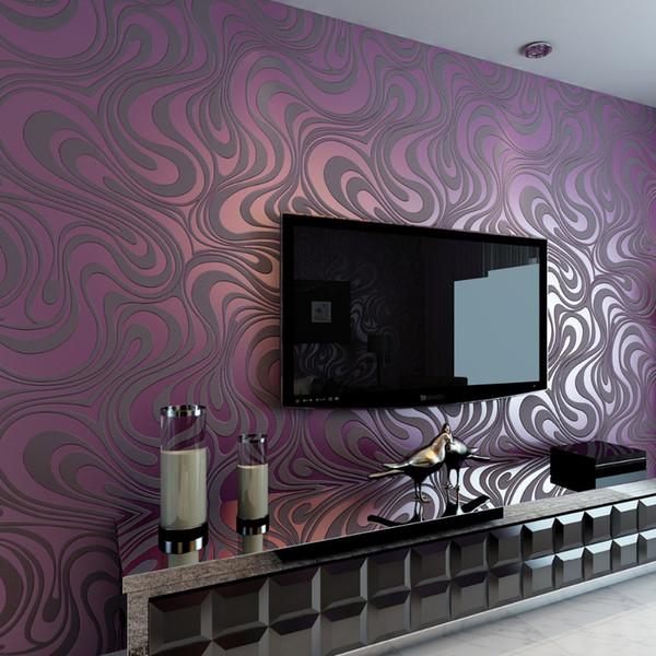 Tapete-Rollen-Wandgemälde der hohen Qualität moderner Luxus3d, die gestreiften Tapeten Fernsehapparat-Sofa-Hintergrund-Tapete für Wände Breite 0.7m 8.4m lang ist