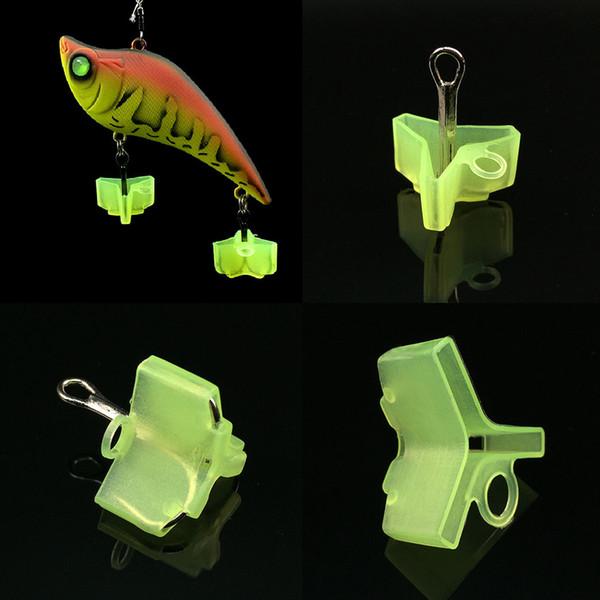 Оптово 10шт пластикового Treble Hook Защитных чехлы для рыболовных приманок 3 Размера