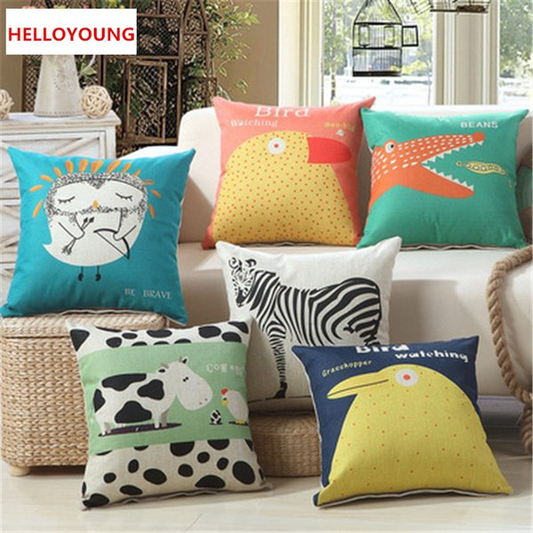 BZ106 Luxury Cushion Cover Pillow Case Home Textiles supplies Lumbar Pillow Digital printing animal pillows chair seat