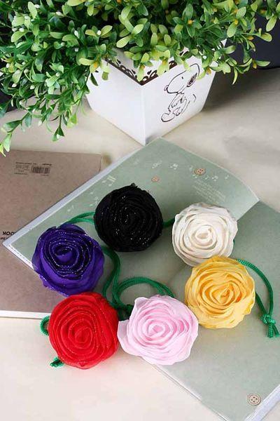 top popular Pretty Rose Foldable Eco Reusable Environmental Shopping Bags 2019