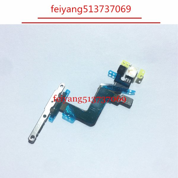 10pcs 100% working Power Button On/Off Button Flex Cable With Metal Plate For iPhone 6S Plus 5.5 inch