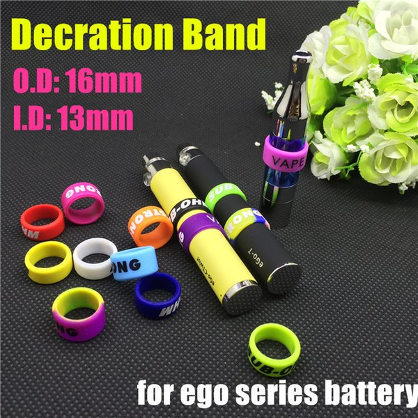 Wholesale- 30pcs Silicone bands vape ring for ego series battery decorative and protection resistance vape band for vision spinner 13mm dia