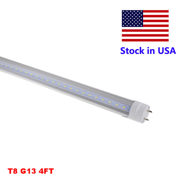 4ft T8 Tube Led Shop Light 4 Foot Led Lights 18w 22w 28w Smd 2835 Bulbs Lamp Clear Milky Cover Ac85 265v Lighting Tubes Tube Lighting Products From